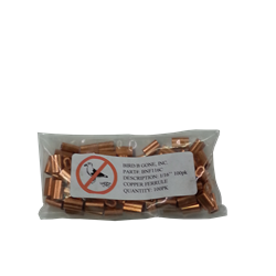 "BBG NET FERRULE 1/16"" COPPER 100/PKG"